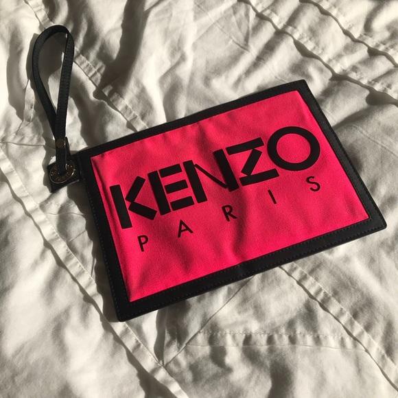 28279719d3c Kenzo Handbags - Final price 🧡 Kenzo 'Kanvas Pouch Wristlet Clutch